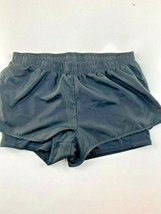 "Aerie Black 100% Polyester Elastic Waist Jogging Short w/Liner Small 28x2"" - $19.75"