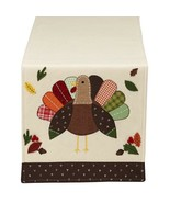 """Turkey Table Runner New Thanksgiving 14"""" x 64"""" Polyester Cotton Dining Fall - $32.97"""