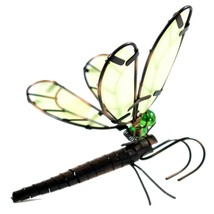 Glow in the Dark Wings Wire Dragonfly Pot Sitter Planter Hanger Garden Decor image 2