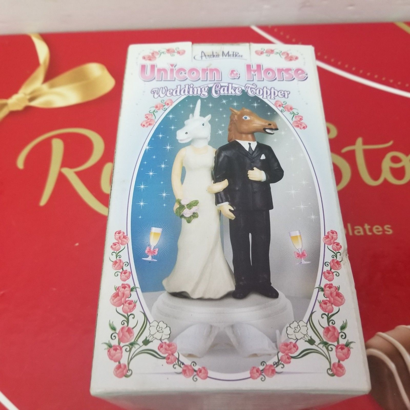 New Unicorn And Horse Wedding Cake Topper