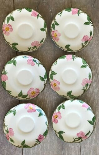 Set 6 Franciscan Desert Rose Tea Cups and Saucers Made in USA image 3