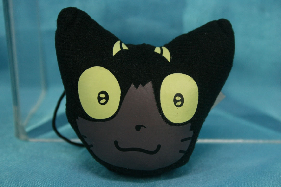 Primary image for Bandai Blue Exorcist Capsule Goods Cleaner Plush Strap Black Cat Head