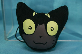 Bandai Blue Exorcist Capsule Goods Cleaner Plush Strap Black Cat Head - $11.99
