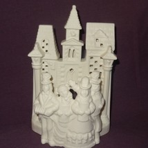 Village Carolers P0204 White Bisque Tealight Candle Holder Partylite Christmas - $14.99