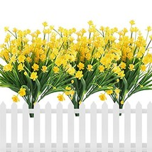 E-HAND Artificial Flowers Fake Cemetery Yellow Daffodils Outdoor Greener... - €10,40 EUR