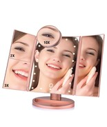 LED Touch Screen Makeup Mirror Magnifying Mirrors Tri-Folded Mirror Ligh... - $79.99