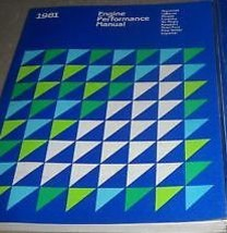 1981 CHRYSLER MIRADA Service Shop Repair Manual ENGINE PERFORMANCE DEALE... - $59.35