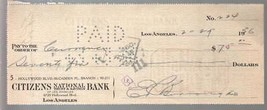 Edgar Rice Burroughs Original Hand Signed Check #224 2/27/1936-autograph-FN - $212.19