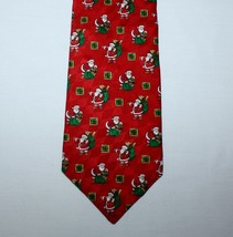 "4"" x 58"" Santa Claus Hallmark Holiday Traditions Red Tie Necktie - $9.85"