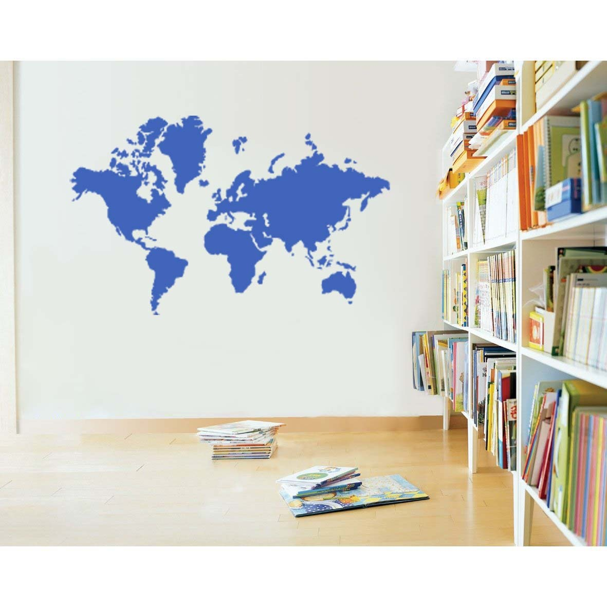 Large map wall decal elitflat large world map vinyl wall sticker decal decals publicscrutiny Gallery