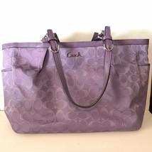 Coach Signature East West Tote Bag K1161-F17725 Purple - $91.87 CAD