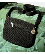 The Sak Black Crochet Handbag Shoulder Bag Purse    - $29.99