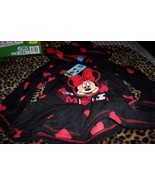 Sweet Minnie Mouse Girls 2 Piece Pant Set 5T Hoodie Hearts NWT Black Red - $15.00