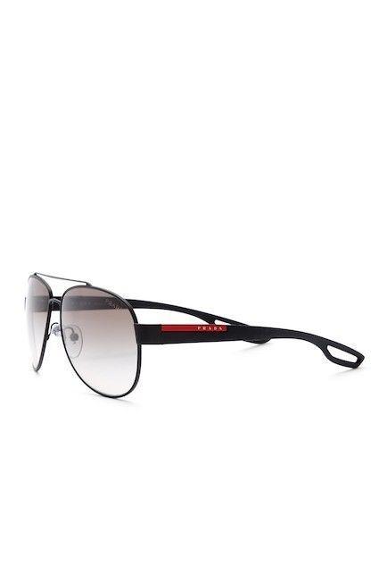 NEW Authentic PRADA Sports Linea Rossa PS55Q Sunglass Black/Grey DG0-0A7 59 mm