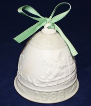 "LLADRO 1988 Porcelain Christmas Bell with Green Ribbon ""Daisa"" Hallmarked - $9.90"