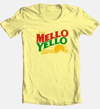 Mello Yello T-shirt retro soda vintage 1980s 100% cotton graphic yellow tee image 1