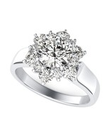 1Ct Colorless Round Cut Moissanite 925 Sterling Silver Promise Ring - $139.00
