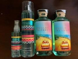 Bath & Body Works Endless Weekend Lot 2 Body Wash 2 Fine Fragrance Mist ... - $14.49