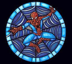 Stained Glass Spiderman Cross Stitch Pattern***LOOK*** - $4.95
