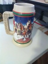 """Budweiser Clydesdale Stein - 1998 - """"Grant's Farm Holiday"""" - $5.51"""