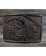 Vintage FIREFIGHTER Belt Buckle COAL MINING CARDINAL RIVER COALS LUSCAR ... - $24.95