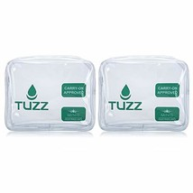 Pack 2 TSA Approved Clear Travel Toiletry Bag quart bags with zipper for... - $15.97 CAD