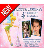 Tinkerbell Fairy Girls  Photo Birthday Party Invitations - $19.99