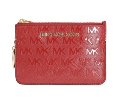 MICHAEL KORS 100% Authentic Cute Red GIFTABLES Key Ring Pouch Wallet - $88.53