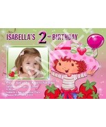 Strawberry Shortcake Girls Photo Birthday Party Invitation - $19.99