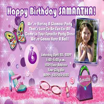 Sleepover Slumber Pajama PJ Girl Birthday Party Invitation