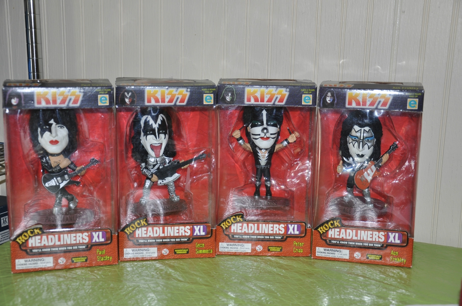 Primary image for KISS DOLLS SET of 4 HEADLINERS XL FIGURES BOXED 1999 - brand new