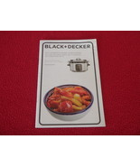 Black & Decker WI-FI Enabled 6 Quart Slow Cooker Use And Care Manual SCW... - $11.26