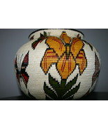 Museum Wounaan Indian Hosig Di Masterpiece Artist Basket Orchid Flowers ... - $2,849.05