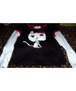 22nd Street 2 Piece Girls Pant Set Cat Tutu Pants Black Red Valentine 5T... - $15.00