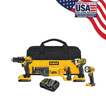 Dewalt 4-Tool 20-Volt Max Power Tool Combo Kit with Soft Case - $299.99