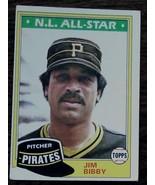Jim Bibby, Pirates, N.L. All Star, 1981 #430 Topps  Baseball Card GOOD C... - $2.96