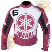 YAMAHA 6 PINK MOTORCYCLE MOTORBIKE BIKERS ARMOURED COWHIDE LEATHER JACKET - $194.99