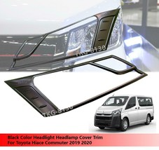 Black Headlight Head Light Cover Trim For Toyota Hiace Commuter 2019 2020 - $59.22
