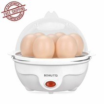 Electric Egg Cooker Automatic Poacher 7 Eggs Boiler Steamer Maker Auto S... - $18.28