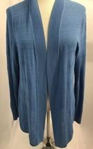 Talbots Robin's Egg Blue Open Knit Cardigan Long Sleeve, Women's Size L - $23.74