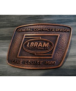 Vintage LORAM INTERNATIONAL LTD. Belt Buckle CANADA Souvenir OIL GAS DRI... - $14.95