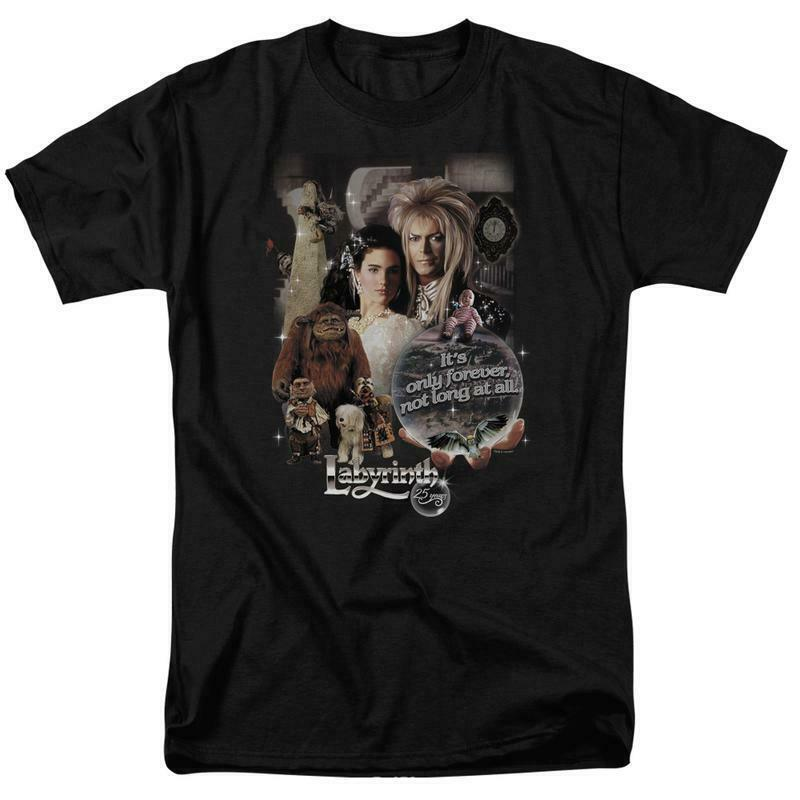 Labyrinth David Bowie Fantasy Cult film Retro 80s adult graphic t-shirt LAB137