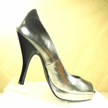 Calvin Klein Womens Silver High Heel Stiletto Dress Party Shoes Pumps Size 7M - $30.00