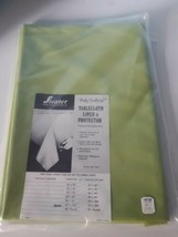 Vintage Sieater Tablecloth Liner And Protector Poly Taffeta 60 x 110 Green - $28.66