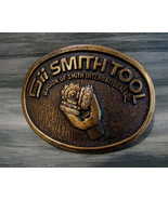 Vintage SMITH TOOL Belt Buckle Souvenir OIL GAS DRILLING BIT Advertising - $14.95