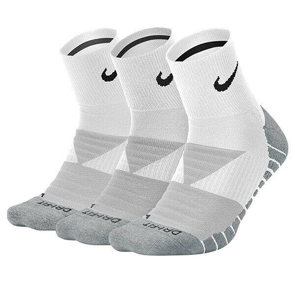 New Nike 3 Pair Dri-Fit Cushion ANKLE Socks Large SX5549 Tennis Running MAX *