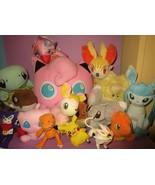 HUGE Pokemon Digimon JigglyPuff Mew Charmander Squirtle Plush Stuffed To... - $100.00