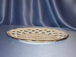 "Oval ""Basket Weave Design"" Dish with 24K Trim by Lenox  - $29.00"