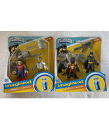 Imaginext DC Black Bat & Ninja Batman - Superman & Metallo Action Figure... - $19.99