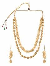 Efulgenz Fashion Indian Bollywood 14 K Gold Plated Faux Pearl Bridal Mul... - $25.94